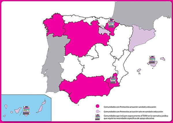 Mapa del TDAH en España
